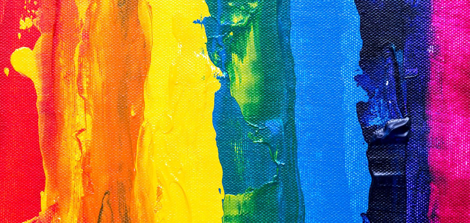 LGBTQ+ smeared paint