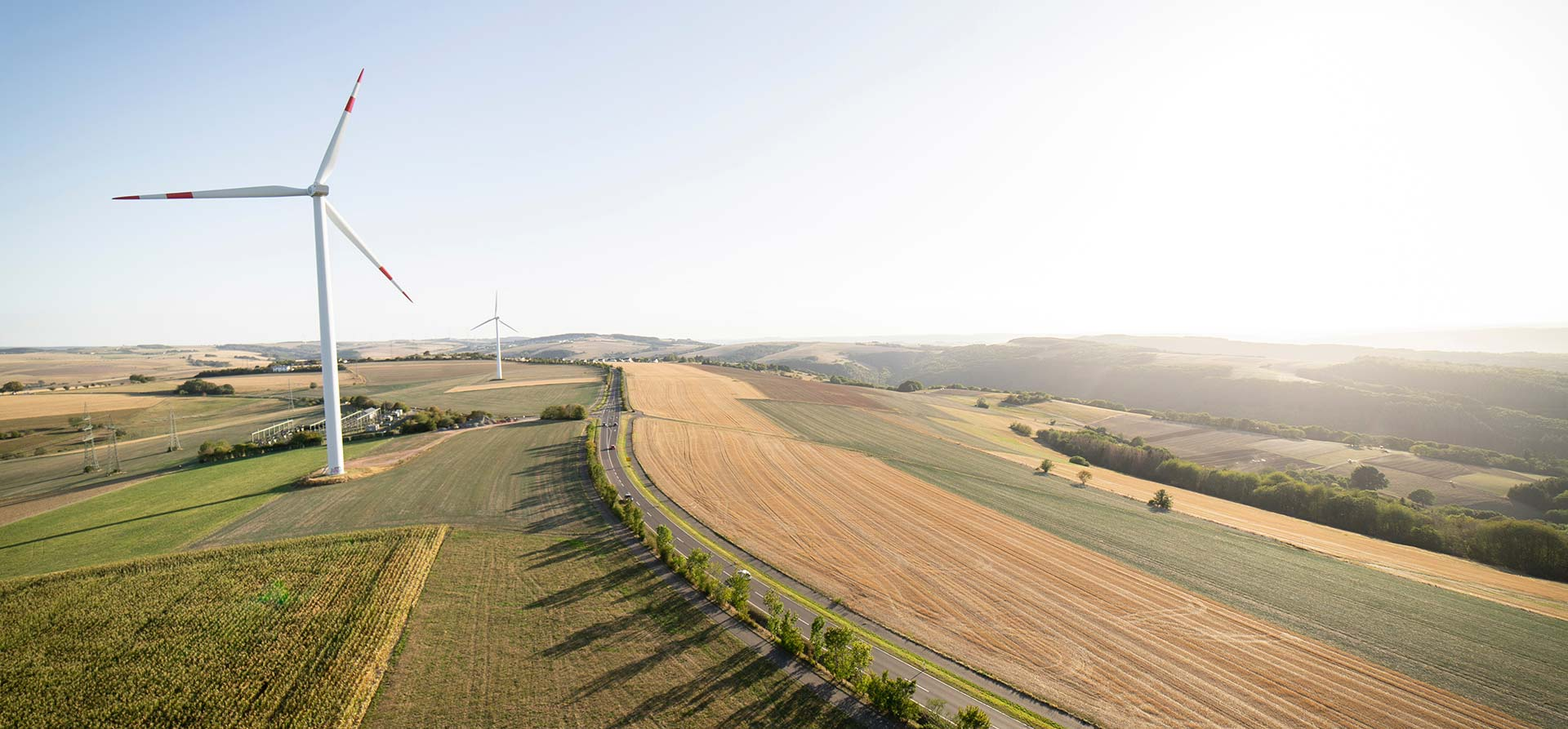 Windmills on farms
