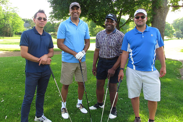 Group photo from 2018 chicago golf outing