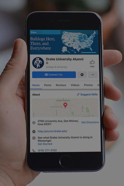 Drake University Alumni Facebook Page