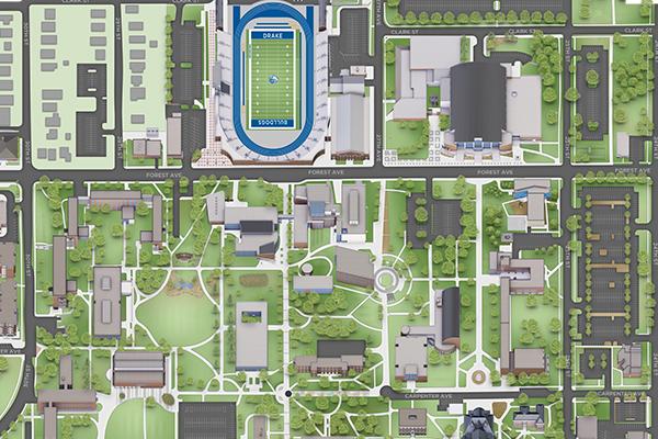 Drake Unviersity Campus Map