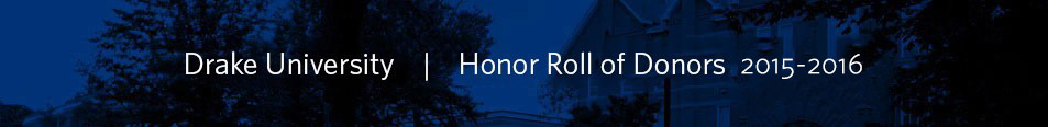 Honor Roll of Donors Header Image